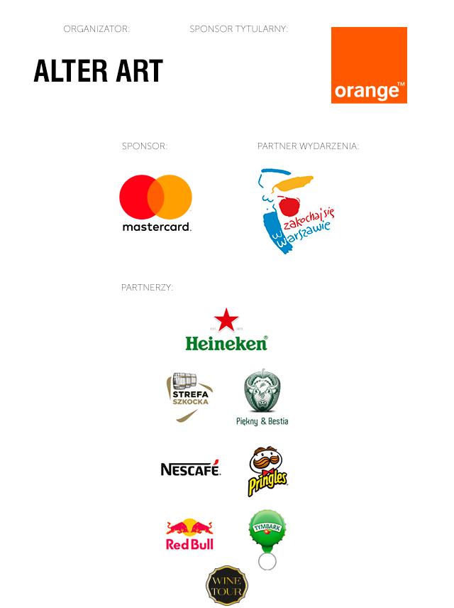 Logotypy organizatora, spopnsora tytularnego, sponsora, partnera wydarzenia oraz partnerów